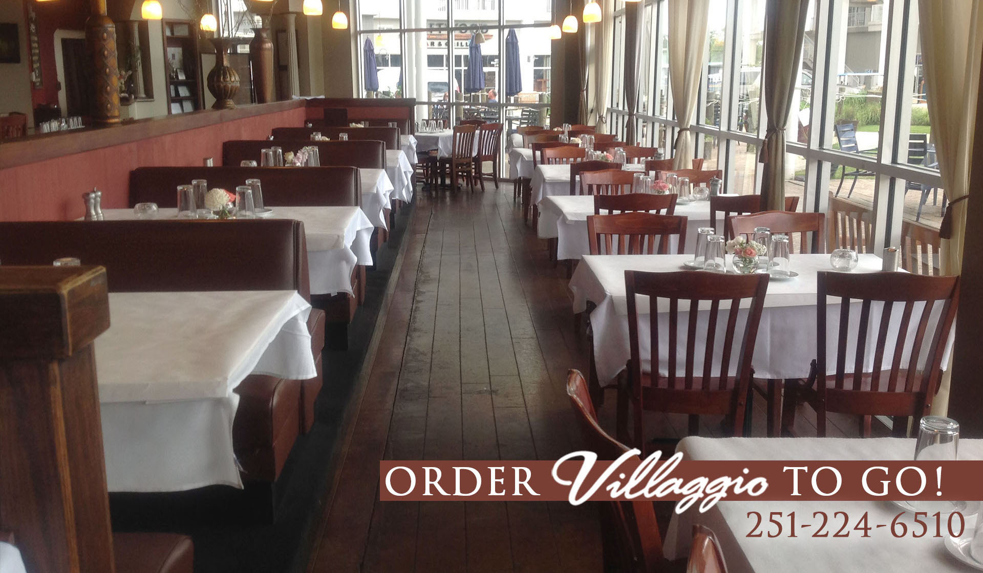 Togo orders at Villaggio Grille at The Wharf